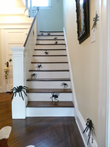 Spider Silhouettes on Stairs:  Eclectically Vintage