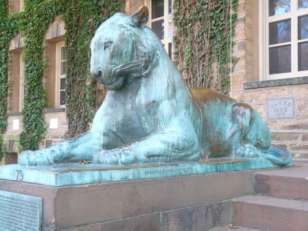 One of two bronze tigers at Princeton University kellyelko.com