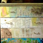 Stenciled Map Dresser DIY