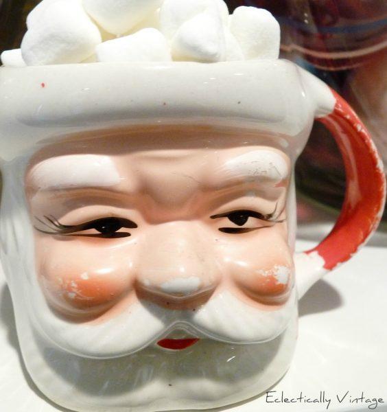 Vintage Santa mug eclecticallyvintage.com