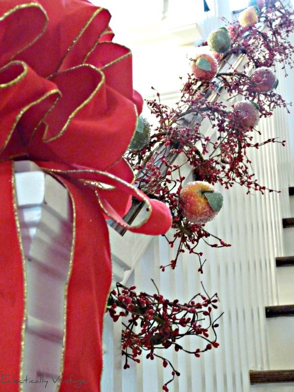 Christmas Open House Tour - filled with tons of unique Christmas decorating ideas like this sugar fruit garland!  kellyelko.com