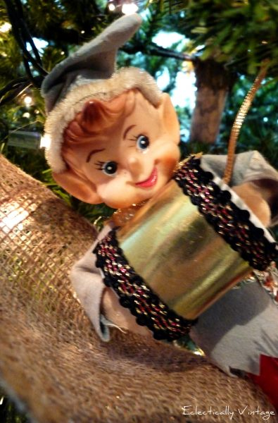 vintage elf christmas ornament