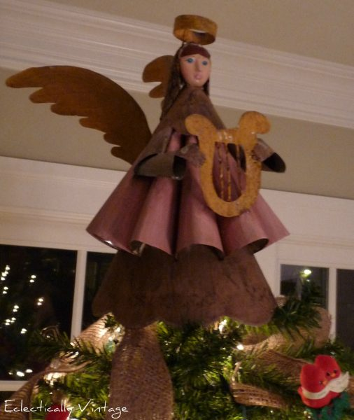 christmas tree topper, vintage topper