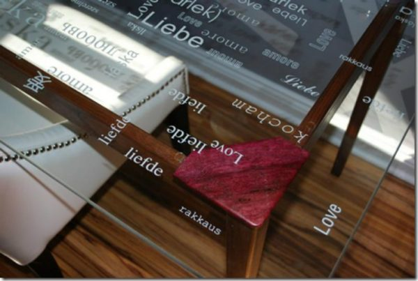 Word glass table - perfect for any office kellyelko.com