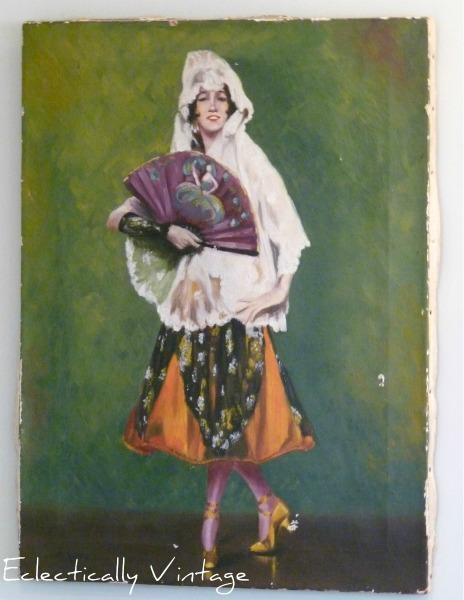 Vintage senorita painting eclecticallyvintage.com