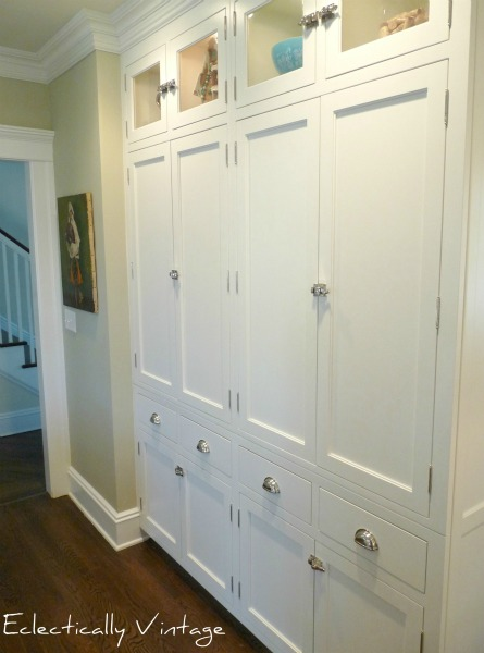 kitchen pantry, kitchen built-ins, kitchen storage, white cabinets