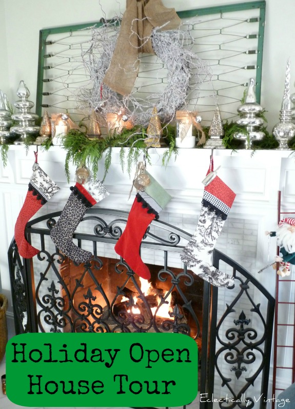 Christmas House Tour - filled with tons of pictures and unique decorating ideas eclecticallyvintage.com