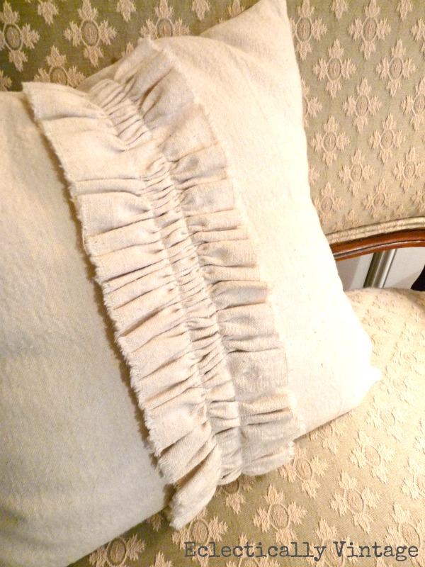 Drop cloth pillow kellyelko.com