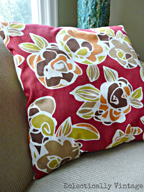 Bold red pillow eclecticallyvintage.com