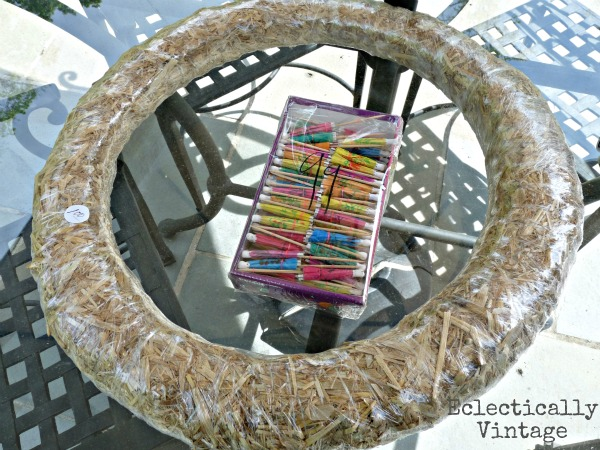 Summer Parasol Wreath supplies!  eclecticallyvintage.com