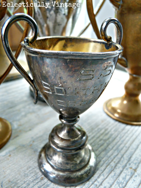 Vintage loving cups - see this beautiful collection kellyelko.com