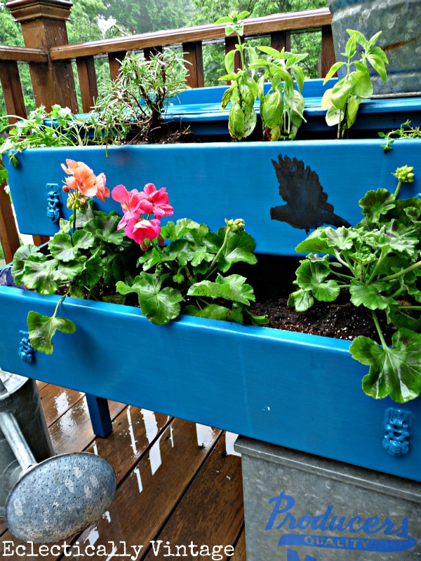 Dresser Planter - create your own for a bit of whimsy!  eclecticallyvintage.com
