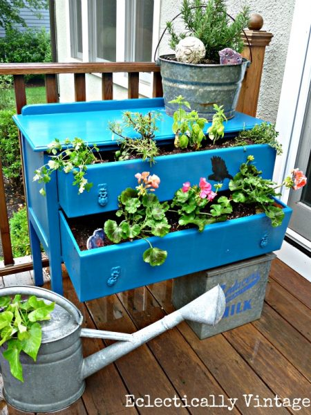 Dresser Planter - Eclectically Vintage