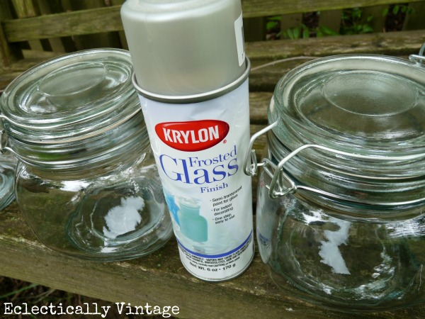 DIY Solar Jars - imagine a row of these lining a walkway  eclecticallyvintage.com