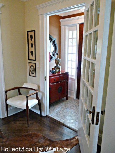 Eclectically Vintage Foyer