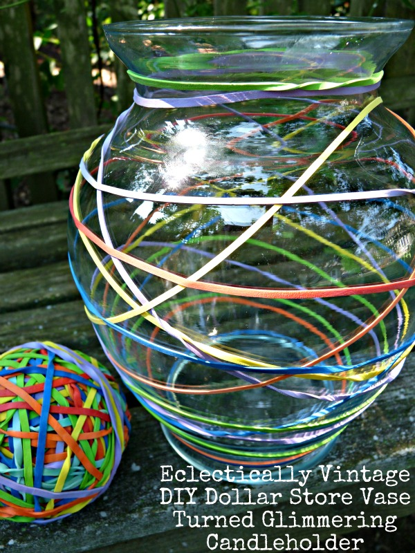 Great glass crafts - Dollar store vase turned mercury glass candle holder.  kellyelko.com