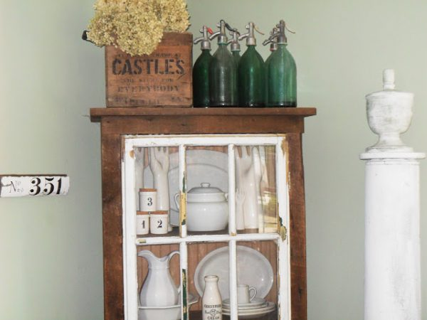 What's better than an old ironstone and seltzer bottle collection? kellyelko.com