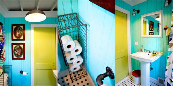Fun Beach Bathroom Decor - love the industrial touches kellyelko.com