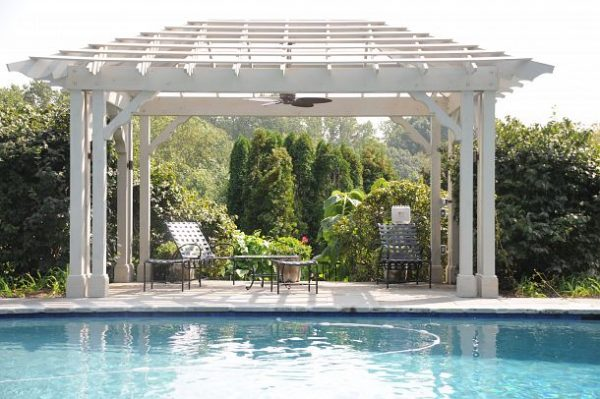 Love this free standing pool pergola kellyelko.com