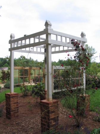 Love this pergola with brick columns kellyelko.com