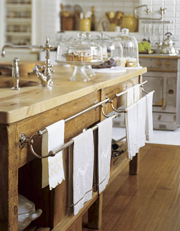 Love the giant kitchen towel racks