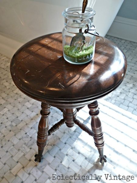 Vintage Piano Stool:  Eclectically Vintage