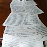 Eclectically Vintage: Music Sheet Table Runner