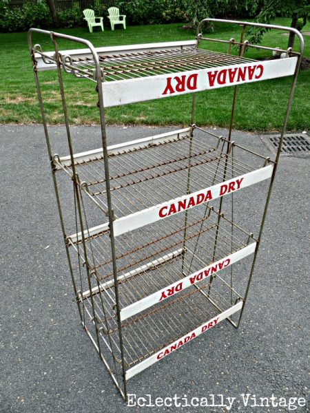 Canada Dry Ginger Ale Display Rack:  Eclectically Vintage