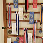 Crib Spring Award Ribbon Display