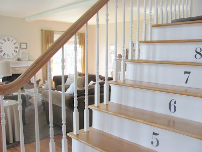 Numbered stair risers in this stunning coastal home kellyelko.com