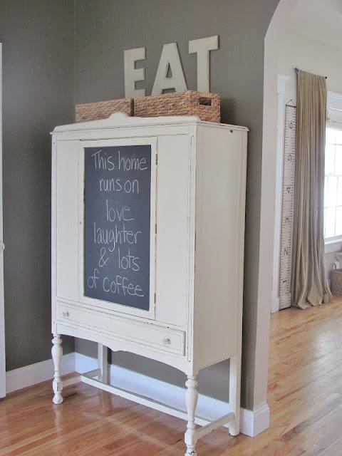 Makeover a flea market piece of vintage furniture with chalkboard paint kellyelko.com
