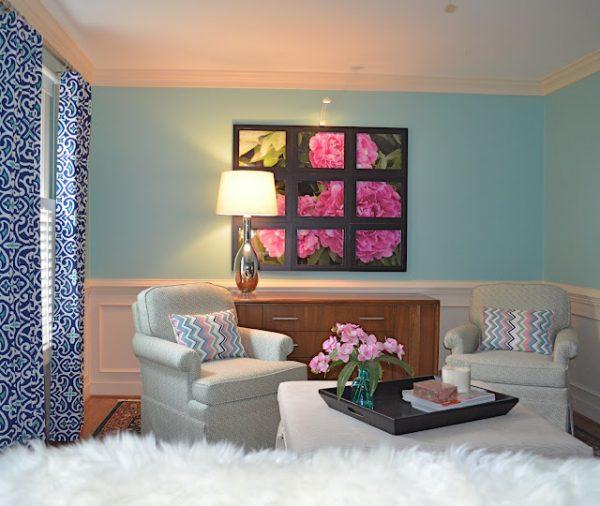 Gorgeous home tour - including this DIY photo art!  kellyelko.com