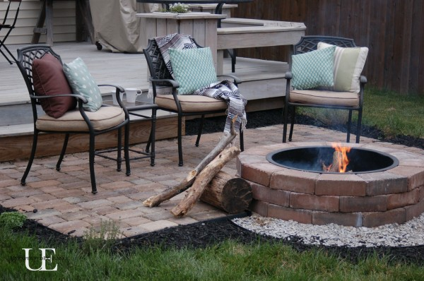 Farmhouse Industrial House Tour - the perfect mix.  Including the perfect patio with this DIY fire pit