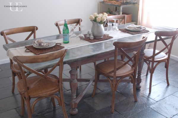 Farmhouse Industrial House Tour - the perfect mix.  Love the DIY zinc top table
