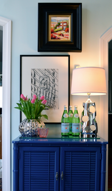 Gorgeous home tour - including this vintage bar!  eclecticallyvintage.com