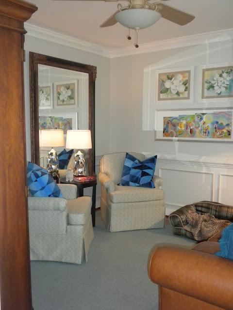 Gorgeous home tour - including this fun den!  eclecticallyvintage.com