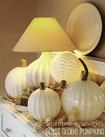 make pumpkins from old lights