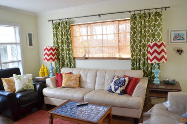 Colorful Mid Century Family Room
