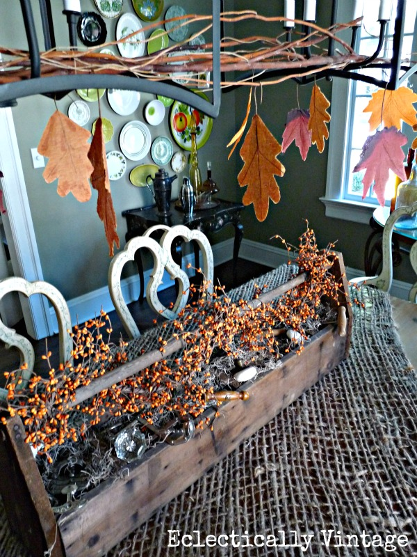 simple fall table decorating
