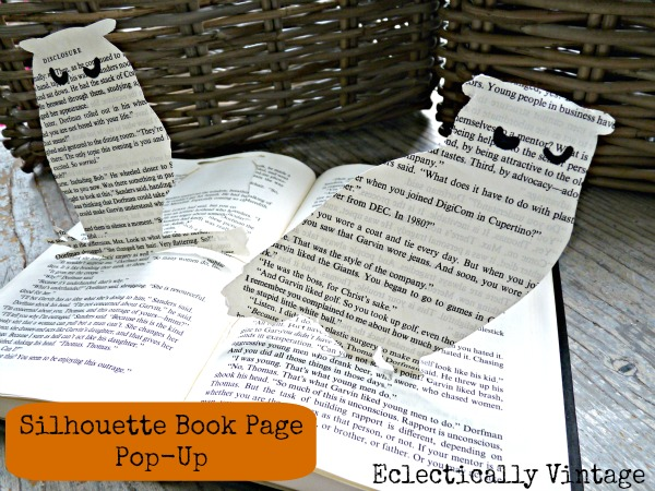 How to make a book page pop up owl.  eclecticallyvintage.com