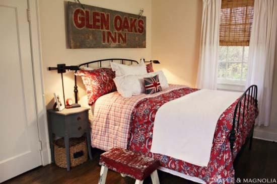 Farmhouse Guest Cottage Tour - love the bedroom sign.  It's gorgeous!