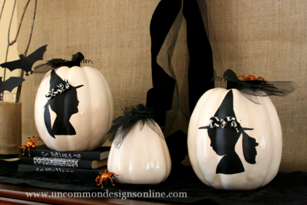 Halloween pumpkin silhouette craft
