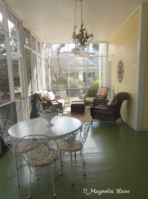 Tour this southern home - love  the screened in porch eclecticallyvintage.com