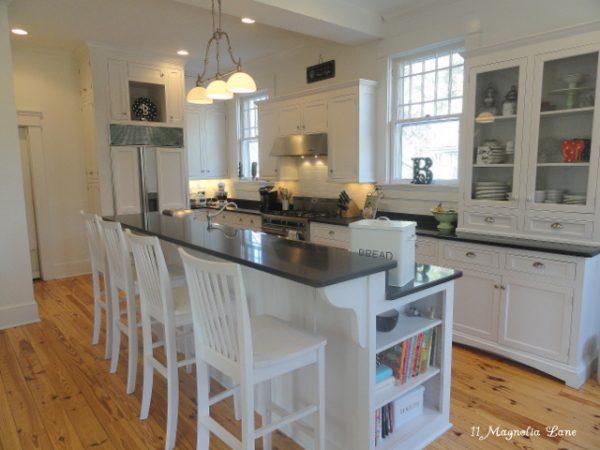 Stunning white farmhouse kitchen and home tour kellyelko.com