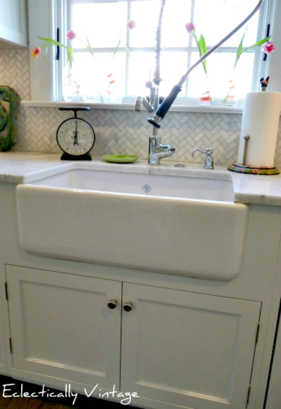 Savvy southern style my favorite room eclectically for Restaurant style kitchen faucet