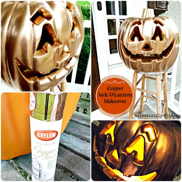 Make a Blinged Out Jack-O-Lantern for Halloween  eclecticallyvintage.com