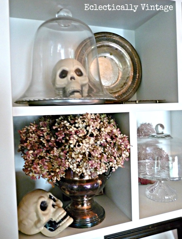 Halloween House Tour - tons of creative #Halloween decorations!  eclecticallyvintage.com