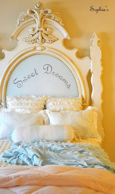 "Fabulous Bedroom with ""Sweet Dreams"" Headboard"