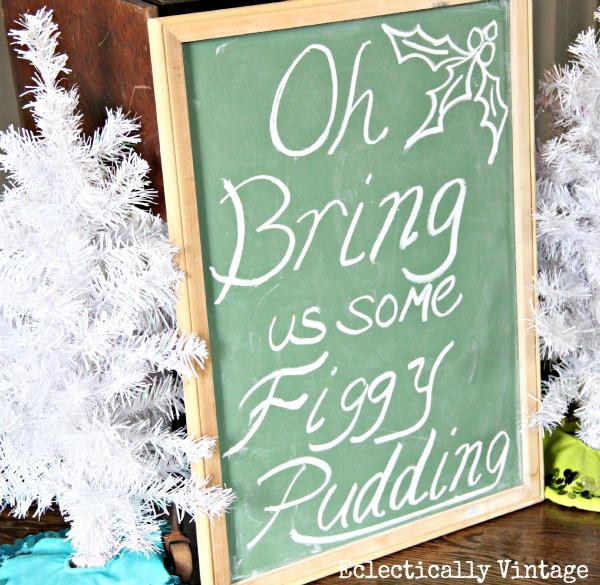 Christmas chalkboard kellyelko.com