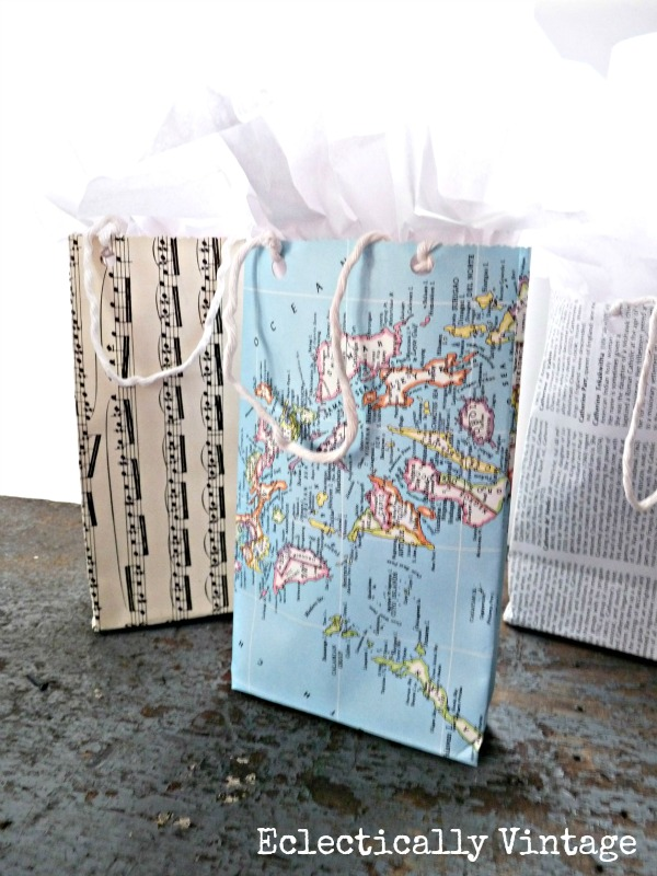 DIY Gift Bags out of any paper kellyelko.com